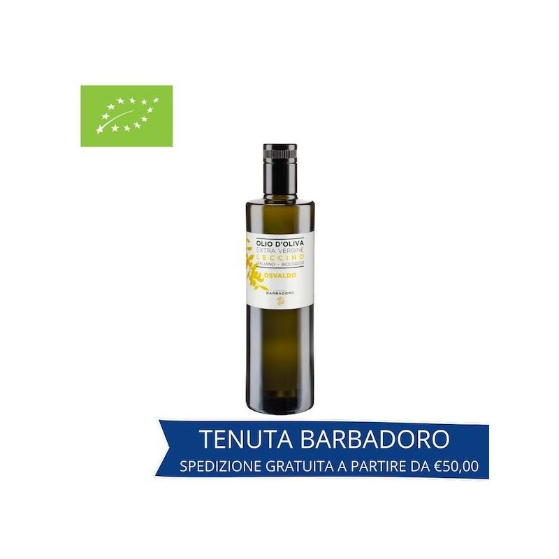 olio extravergine di oliva leccino biologico in bottiglia_tenuta barbadoro