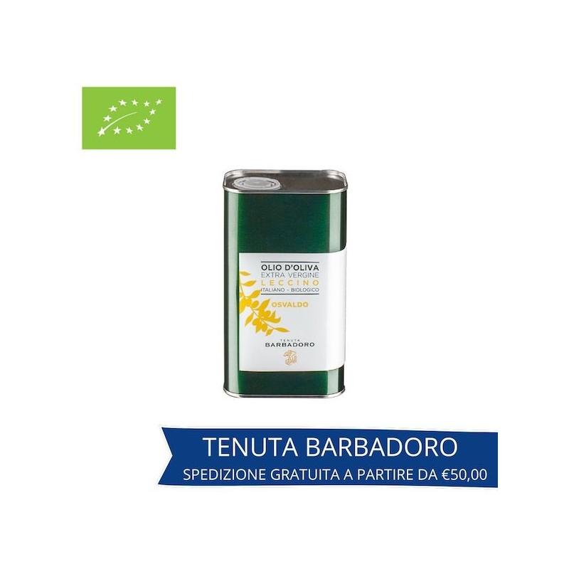 olio extravergine di oliva leccino in lattina_tenuta barbadoro