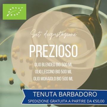 set degustazione olio prezioso tenuta barbadoro