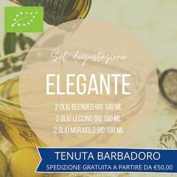set degustazione olio elegante