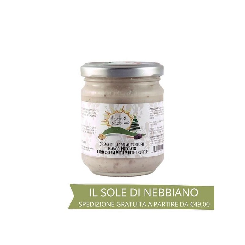 Crema di lardo al tartufo bianco pregiato 100% toscano